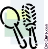 Vector Clipart picture  of a Brushes