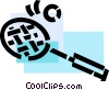 Vector Clip Art image  of a Balls and Rackets Racquets