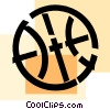 Vector Clipart image  of a Basketballs