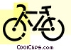 Vector Clipart illustration  of a Bicycles