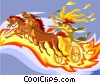 Helios - The Sun God Vector Clipart image