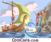 Vector Clipart picture  of a Odysseus and The Sirens