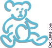 Vector Clip Art graphic  of a teddy bear