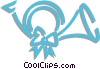 Vector Clipart graphic  of a Christmas horn