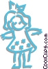 Vector Clip Art graphic  of a doll