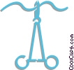 Vector Clip Art picture  of a suture