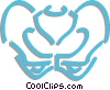 pelvis bone Vector Clipart picture