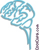 Vector Clip Art image  of a human brain