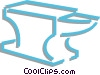 Vector Clipart graphic  of an anvil