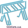 barricades Vector Clipart graphic