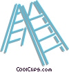 Vector Clip Art image  of a ladder