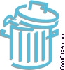 Vector Clipart picture  of a trashcan