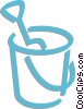 pail and bucket Vector Clipart image