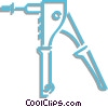 Vector Clipart graphic  of a rivet gun