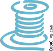 Vector Clip Art image  of a spool of cable
