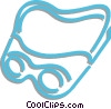 safety goggles Vector Clipart image