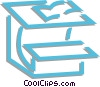 Vector Clip Art image  of a school desks