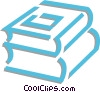Vector Clip Art graphic  of a school books