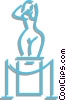 Vector Clip Art image  of a sculpture