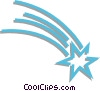 Vector Clipart picture  of a shooting star