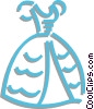 wedding dress Vector Clip Art image