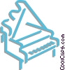 Vector Clip Art picture  of a grand piano