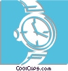 Vector Clip Art picture  of a wristwatch