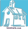 Vector Clipart graphic  of a church