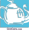 teapot Vector Clipart graphic