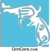 Vector Clipart graphic  of a handgun
