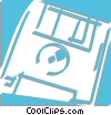 floppy disk Vector Clipart image