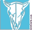 Vector Clip Art graphic  of a cows skull