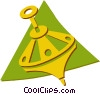 Vector Clipart image  of a spinning top