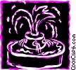 Vector Clip Art image  of a Fountains