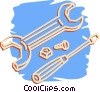 wrench, and screwdriver Vector Clipart picture