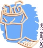 waste paper basket Vector Clipart picture
