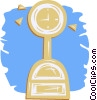 Vector Clip Art image  of a weight scale