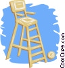 Vector Clipart graphic  of a lifeguard chair