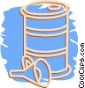 Vector Clipart illustration  of a oil drum and funnel