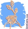 Vector Clip Art picture  of a tree stump