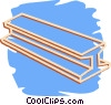 Vector Clipart image  of a I beam