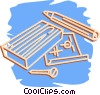 Vector Clipart illustration  of a building plans and supplies