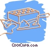 Vector Clip Art picture  of a bricks and mortar