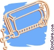 Vector Clip Art image  of a c-clamp