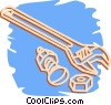 wrench Vector Clipart illustration