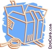 Vector Clip Art image  of a shipping crate