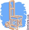 Vector Clip Art graphic  of a shipping dolly
