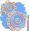 Vector Clipart graphic  of a gears