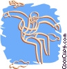 Vector Clip Art graphic  of a skydiver