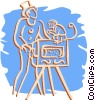 Vector Clip Art image  of a organ grinder